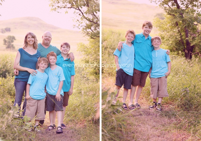 family pictures outdoors in bismarck