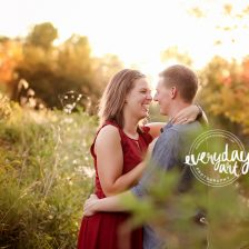 engaged couple photo in bismarck, nd